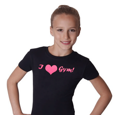 T-Shirt, »I love gym« (Herz) Turnen / Gymnastik – Bild 2