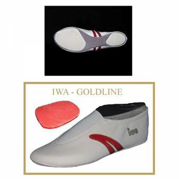 »IWA-402« Turnschläppchen / Kunstturnschuhe / Gymnastikschuhe, cremefarben (GR 29-46)