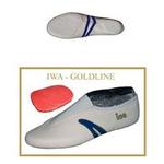»IWA-403« Turnschläppchen / Kunstturnschuhe / Gymnastikschuhe, cremefarben (GR 29-46)