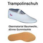 weißer Gymnastikschuh mit Gummisohle / Trampolinschuh »IWA-250«