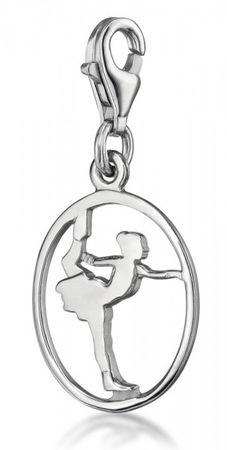 Charm »Schlittschuhlaufen«,Silber