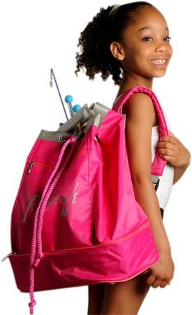 Cooler pink Rucksack »Fly« Junior mit Pastorellischriftzug in Glitter – Bild 2