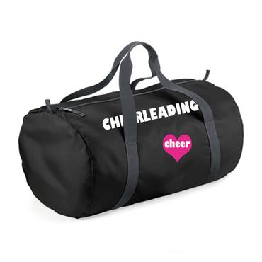Ultraleichte schwarze Sporttasche CHEERLEADING