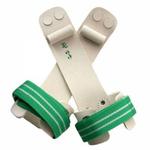 2-Loch Ringeriemchen, Turnriemchen für Ringe mit Rolle und Klettverschluss