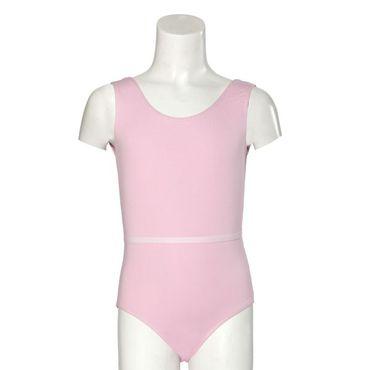 Baumwoll-Trikot / Body ohne Arm, rosa Baumwolle/Elasthan (90/10) – Bild 1