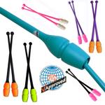 RSG-Keulen »MASHA« CONNECTABLE, 45,2cm BICOLOR Plastik/Gummi (FIG) für Rhythmische Sportgymnastik