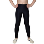 Getty-Sports Legging aus schwarzem Meryl (Polyamid/Elastan)