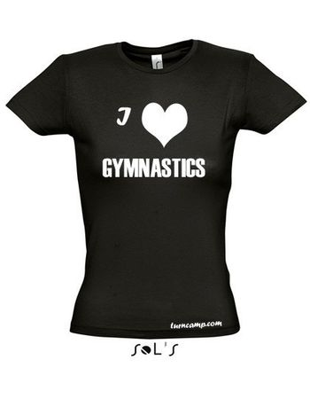 T-Shirt  »I love gymnastics« für Turnen / Gymnastik