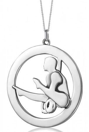 Silberanhänger »Turner an Ringen« (21mm)