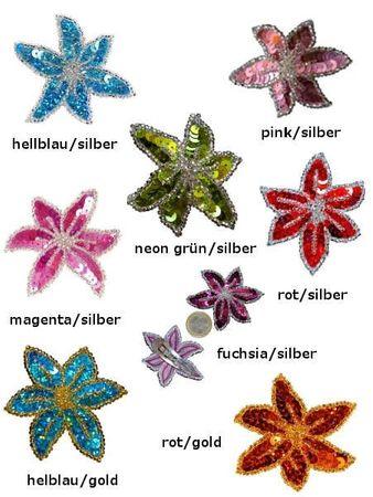 Haarclip / Haarspange Modell »Flower«, Paillettenblüte handgearbeitet