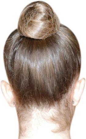 unsichtbares Haarnetz, braun, schwarz, blond – Bild 1