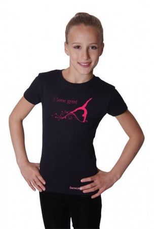 T-Shirt, »I love gym« mit Turnerin - Turnen / Gymnastik – Bild 1