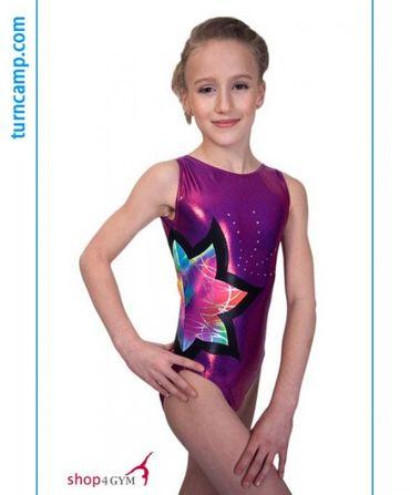 Turnanzug / Gymnastikanzug Modell »Laura« (grape/mystical)