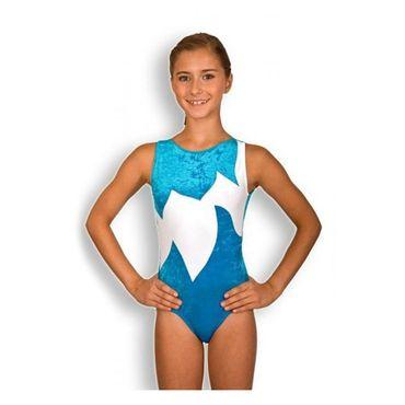Turnanzug / Gymnastikanzug Modell - Marie - (türkis/weiss)