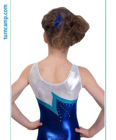 Turnanzug »Leonie« / Gymnastikanzug (royal/silber) – Bild 2