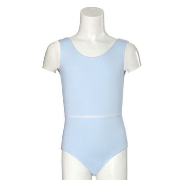 Baumwoll-Trikot GR 12 / Body ohne Arm, hellblau Baumwolle/Elasthan (90/10) – Bild 1