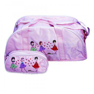 Balletttaschen-Set, Nylon, rosa