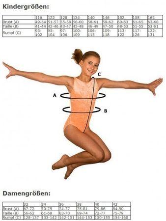 Turnanzug / Gymnastikanzug kleiner Kragen, Armlänge wählbar, »Basic« Samt (schwarz) – Bild 3
