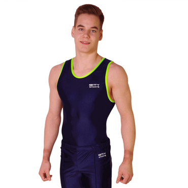 Getty-Sports Turntrikot Bernd (navy,lime) – Bild 1