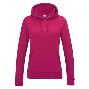 Girlie College Hoodie in Hot Pink – Bild 1