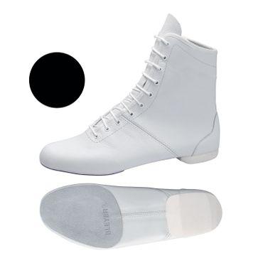 schwarzer Garde-Stiefel / Mariechen-Stiefel mit geteilter Sohle / Halbsohle aus Rauleder Modell: 4623-H