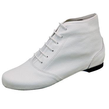 rote Garde-Stiefel / Mariechen-Stiefel mit geteilter Sohle / Ballenpartie Leder  – Bild 2