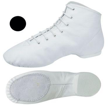 schwarzer Garde-Stiefel / Mariechen-Stiefel mit geteilter Sohle / Ballenpartie Leder Modell: 4680-L