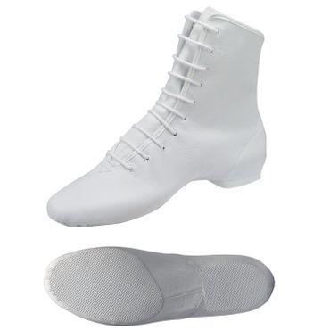 weißer Garde-Stiefel / Mariechen-Stiefel mit geteilter Sohle / Ballenpartie Gummi Modell: 4686-H