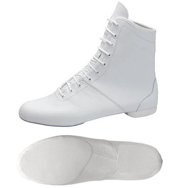 weisser Garde-Stiefel / Mariechen-Stiefel mit geteilter Sohle / Halbsohle aus Gummi Modell: 4622-H
