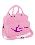 pink Sporttasche mit Motiv 'Spagatsprung' und Wunschname 001