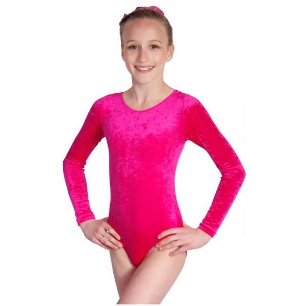 gymnastikanzug knittersamt pink ovaler ausschnitt. Black Bedroom Furniture Sets. Home Design Ideas