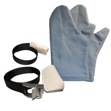 Set aus verstellbaren Reckschlaufen mit Polster und Reckhandschuhen – Bild 1