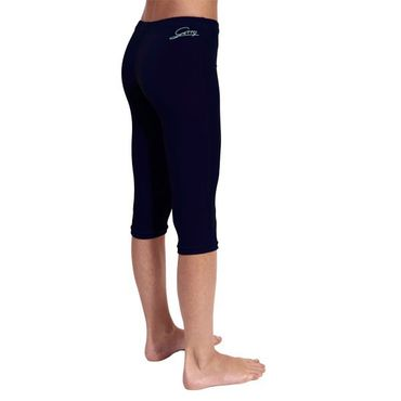 navy 3/4 Leggings aus Knittersamt (Capri, Turnhose)