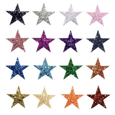 Haarclip / Haarspange Modell »Stern« Glitter