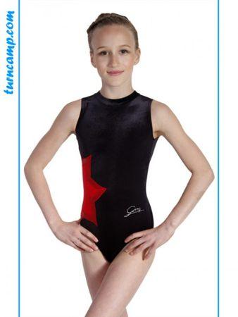 Turnanzug / Gymnastikanzug Modell »Laura« (schwarz/rot/rot) – Bild 1