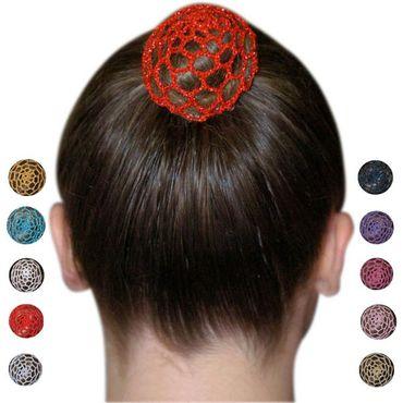 Haarnetz, gehäckelt, in verschiedenen Farben