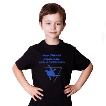 """T-Shirt / Turner-Shirt """"Wenn Turnen ..."""" Motiv Boden – Bild 3"""