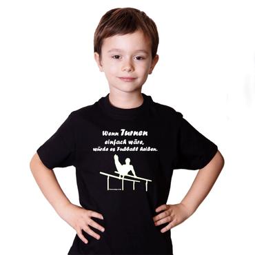 "T-Shirt / Turner-Shirt ""Wenn Turnen ..."" Motiv Barren – Bild 1"