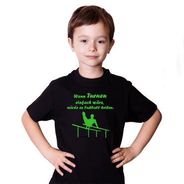"T-Shirt / Turner-Shirt ""Wenn Turnen ..."" Motiv Barren – Bild 3"