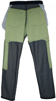 Motorbike Jeans with Protectors gray/military