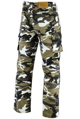 GermanWear® Motorradhose Motorradjeans, Futter aus Kevlar® stoff jeanshose Jeans mit Protektoren, militärfarbe camouflage – Bild 3