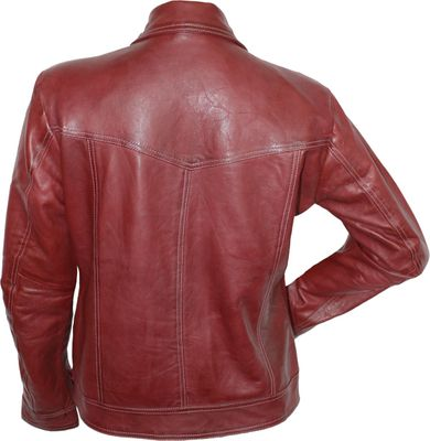 Ladies Leather jacket fashion Sheepskin lamb Nappa-leather Red – image 3