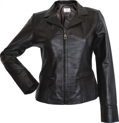 Ladies Leather jacket fashion lamb Nappa-leather,color: Brown – image 1