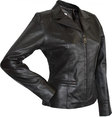 Ladies Leather jacket fashion lamb Nappa-leather,color: Brown – image 3