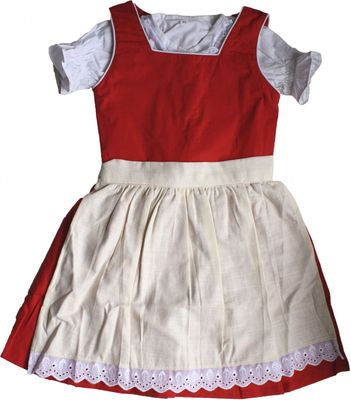3-pieces Girl Dirndl Trachten Dress Girly,color: red/ cream – image 1