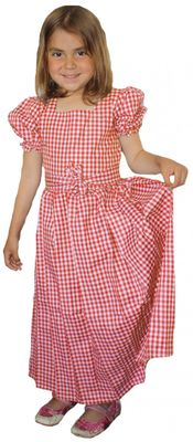 Girl Dirndl Trachten Dress Girly,color:Red /checkered