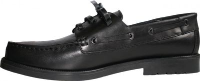 Boat Shoes made of real Cowhide,color: Black – image 2