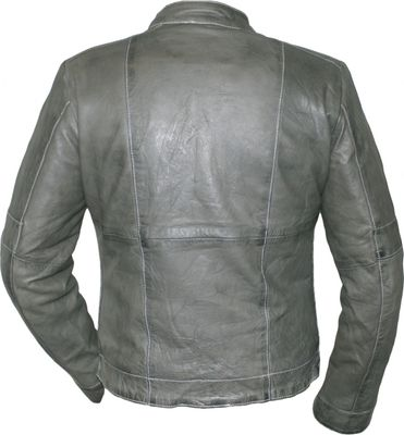 Ladies Leather jacket fashion lamb Nappa-leather,color: Grey – image 3