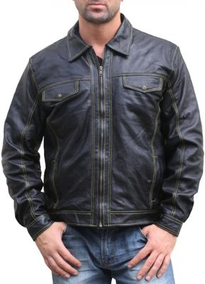 Men Leather jacket lamb Nappa-leather