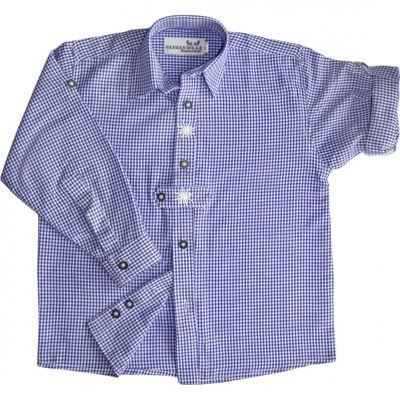 Kinder Trachtenhemd blau/weiß kariert